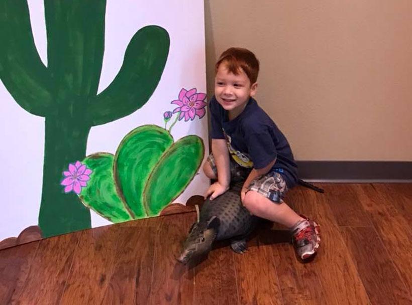 smiling boy at a Preschool & Daycare Serving New Braunfels, TX